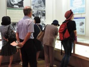 永井隆記念館:博士の遺品、書画、関係写真などを閲覧しました