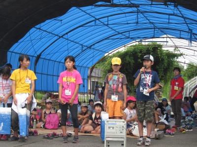 参加者を代表してお礼を述べる坂本くん(右端)