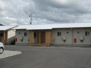 西原村の仮設住宅