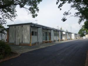 熊本市の仮設住宅(東区秋津中央公園)