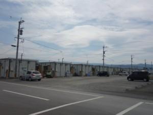 熊本県内最大規模の仮設住宅「テクノ仮設団地」。(9月撮影)