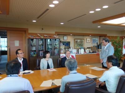 蒲島県知事より感謝の言葉を頂きました