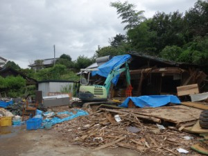 震度7の揺れに2度襲われた大切畑地区の家屋も撤去作業が開始された(9月撮影)