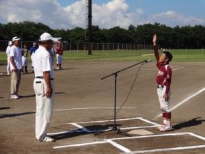 岩﨑主将による選手宣誓
