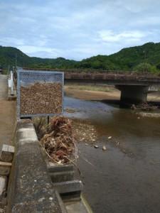 川が氾濫した跡がみられます