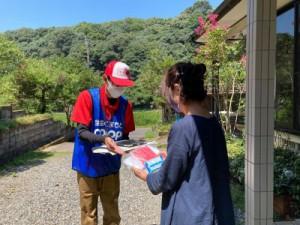 共済加入者宅を訪問し状況の聞き取りやお見舞い品のお渡しを行いました