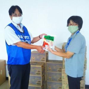 人吉市社協へ米・飲料をお届けしました